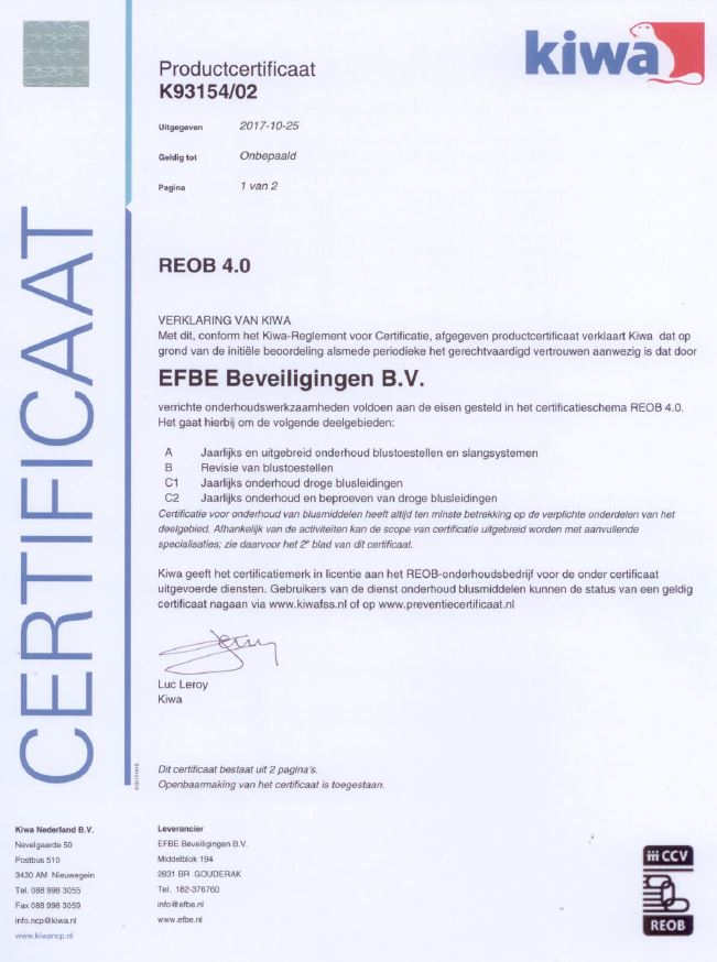 Certificering REOB 4.0